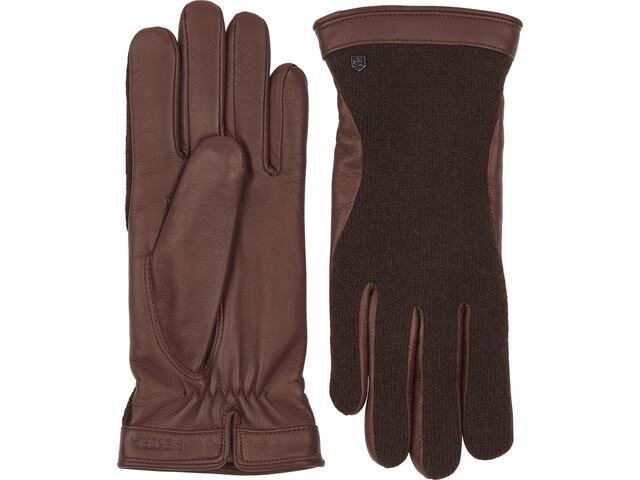 Hestra Saga Gloves, marrón/gris